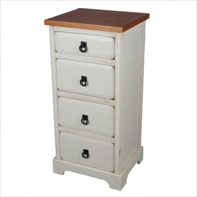 Four Drawer Accent Cabinet in White (Privilege)
