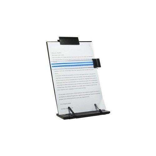 Lost ocean Black Metal Desktop Document Book Holder with 7 Adjustable Positions