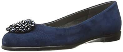 Aerosoles Women's Becxotic Ballet Flat,Blue Suede,5 M US