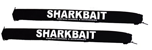 Sharkbaitsurfwax Set of Two 30 Inch Long Aero Roof Rack Pads Black Fade Proof for Surfboard/sup/kayak (Roof Rack Pads White compare prices)