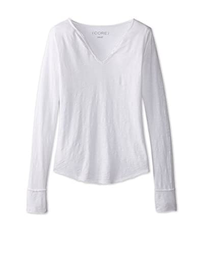 CORE Women's Buttoned V-Neck Top