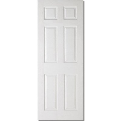 LPD Door, Interior Internal Door, White Moulded - Textured 6P White - 78