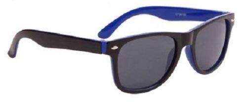 Blu Wayfarer bicolore occhiali da sole Cool Shades Bambino Ragazza 100% protegge dai raggi UV 66