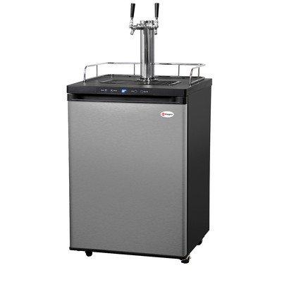 Kegco Kegerator Digital Beer Keg Cooler Refrigerator - Dual Faucet - D System (Keg Refrigerator compare prices)