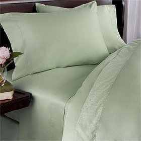ANILI MILI 1500 Collection Affordable 4 pc Bed Sheet Set - Queen Size, Green