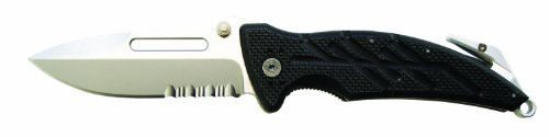 Ontario 8761 XR-1 Folder Serrated, Black