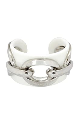 White Acrylic and Chain Cuff