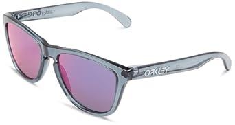 Oakley Frogskin 03-289 Iridium Rectangular Sunglasses,Crystal Black,55 mm