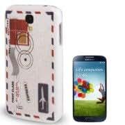 Envelope Pattern Plastic Case for Samsung Galaxy S IV / i9500