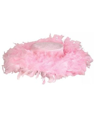 New Pimp and Hoe Costume Accessory Pink Feather Boa Hat