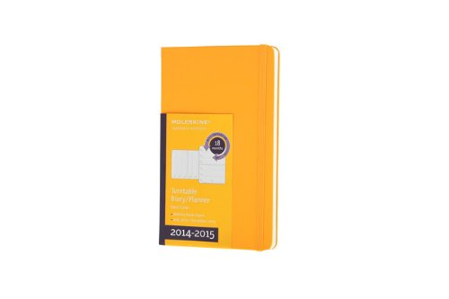 Moleskine 2014-2015 Turntable Weekly Planner, 18M, Pocket, Orange Yellow, Hard Cover (3.5 x 5.5) (Moleskine Diaries) (Moleskine Planner Turntable 2015 compare prices)