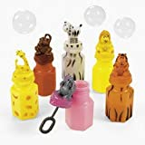 24 ZOO Animal Jungle Characters Bubble Bottles