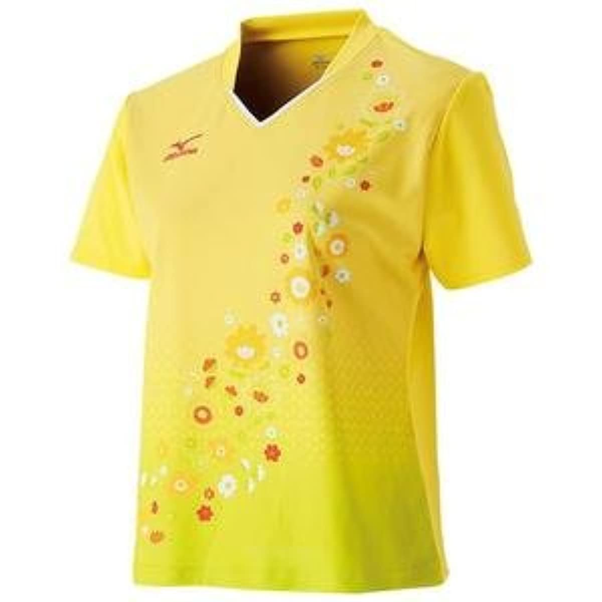 [해외] MIZUNO 게임 셔츠(탁구/레이디스)(블레이징옐로우) 주문 상품 사이즈:XL