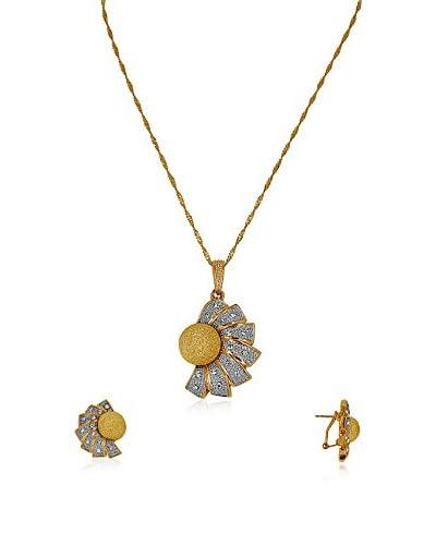 FROUFROU Conjunto de cadena y pendientes Fleur