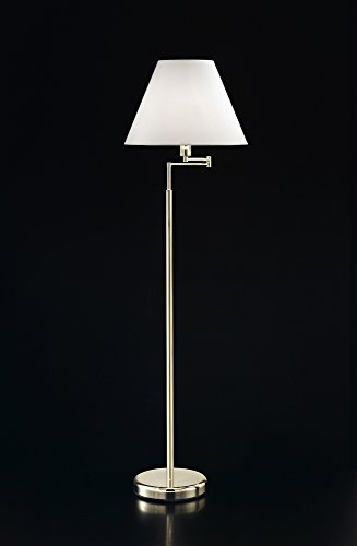 Piantana Ottone Dorato - Misure H.Reg. 130/170 Cm - 1Xe27 Max 60W - Lampada Piantana Modello Perenz 4018Od