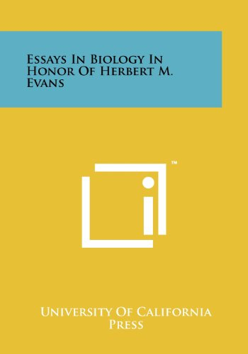 Essays in Biology in Honor of Herbert M. Evans