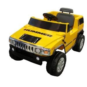 Toy / Game National Products 6V Yellow Hummer H2 Battery Operated Ride-On W/ Chrome Front Grill And Hubcaps