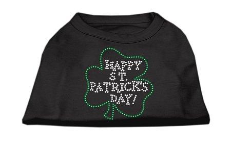 Happy St. Patrick's Day Rhinestone Shirts Black XXL (18)