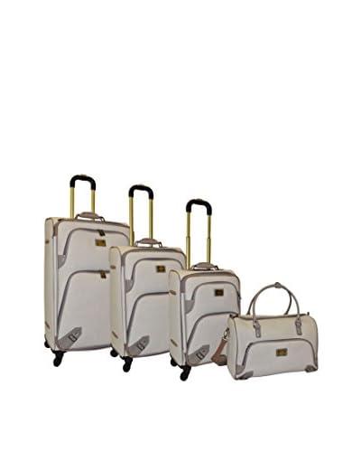 Adrienne Vittadini 4-Pc Luggage Set, Linen