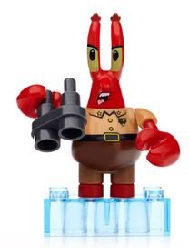 Mega Bloks Spongebob Squarepants The Spongebob Movie Sponge Out Of Water Series 2 Minifigures Post-Apocalypse Krabs Rare Minifigure