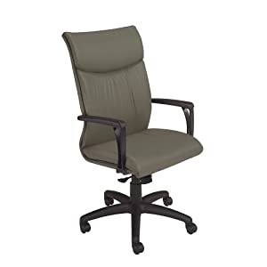 National Office Furniture Respect High Back Executive Office Chair, Grey Faux Leather