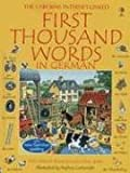 First Thousand Words German Internet Linked (German Edition)
