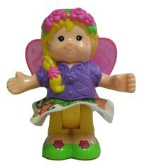 Little People Fairy Princess Sarah Lynn with Butterfly Wings and Wand - Bendables Replacement Figure - Classic Fisher Price Collectible Figures - Zoo Circus Ark Pet Castle