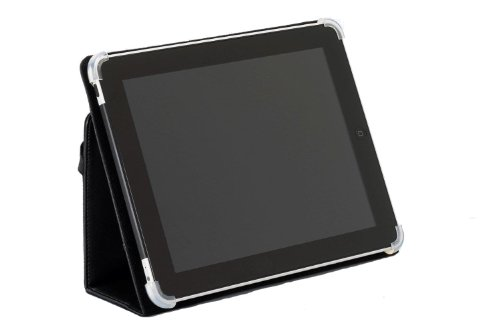 Cyber Acoustics IC-1000BK Leather iPad Cover/Case