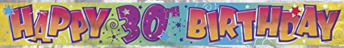 12ft Foil 30th Birthday Banner - 1