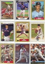 Lot of 100 Different Boston Red Sox Baseball Cards