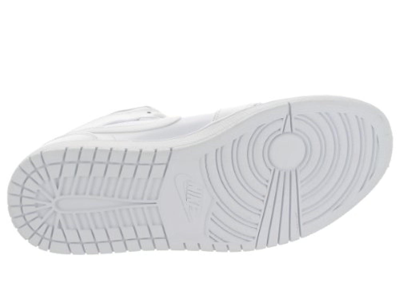 Nike Jordan Men's Air Jordan 1 Mid White/Cool Grey/White Basketball Shoe 10.5 Men US