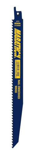 Irwin Tools 372956B Reciprocating Saw Blade 9-Inch 6TPI, 25 Pack