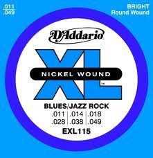 D'Addario EXL115x5  Electric Guitar Strings, Nickel, Round W