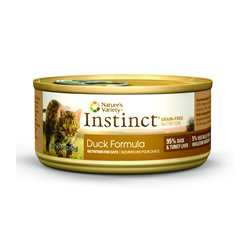 Instinct Grain-Free Duck Formula Canned Cat Food by Nature's Variety, 3-Ounce Cans (Pack of 24)