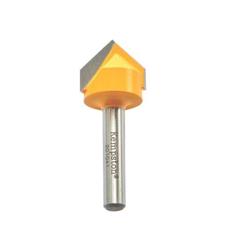Kempston 201041 V Groove Bit, 1/4-Inch Shank, 3/4 Cutting Diameter by 5/8 Cutting Length by 90D