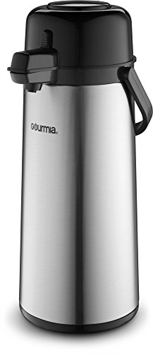 Gourmia GAP9820 Air Pot Thermal Hot & Cold Beverage Carafe With Pump Dispenser 2.2L Capacity (Two Gallon Beverage Dispenser compare prices)