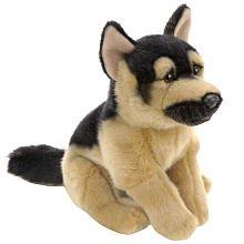 Toys R Us Plush 9 inch German Shepherd - Black and Tan
