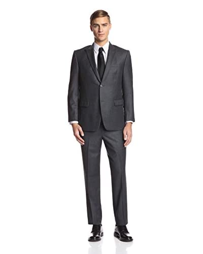 Andrew Marc Men's 2 Button Flannel Suit