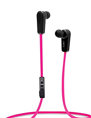 Jarv NMotion Sport Wireless Bluetooth 4.0 Stereo Earbuds/Headphones with In-Line Microphone , Pink