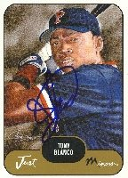 Tony Blanco Pawtucket Red Sox - Red Sox Affiliate 2002 Just Minors Autographed Hand... by Hall of Fame Memorabilia