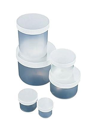 JWP0125P plástico, frascos de boca ancha con tapón de rosca
