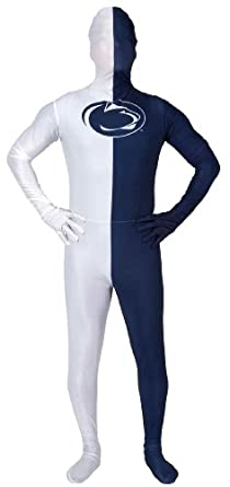 Paper Magic Men's Penn State University Skin Suit, Blue/White, One Size