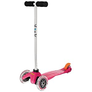 Mini kick Scooter - PINK, for kids age 3-5. Winner of the Oppenheim Toy Portfolio Gold and Platinum Best Toy Award Seals - ALSO available in new Yellow, Green, Aqua, Orange and Blue