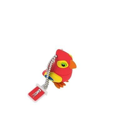 EMTEC Animal Series Jungle 4 GB USB 2.0 Flash Drive, Parrot