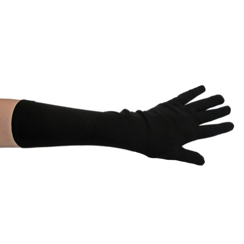 Black Costume Gloves (Elbow Length) ~ Halloween Costume Accessories (STC12037)