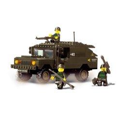 Sluban Militär Hummer Army Jeep 191 Teile, kompatibel zum dänischen Hersteller