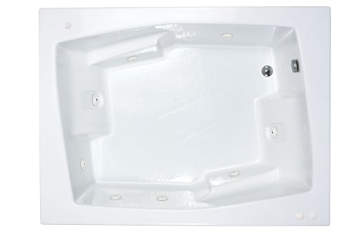 Sea Spa Tubs S5472Cwr Tubs Caresse 54 By 72 By 23-Inch Rectangular Whirlpool Jetted Bathtub, White