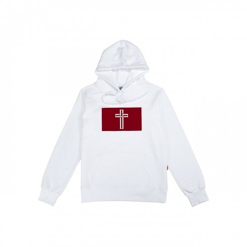 INSANE GENIUS RED Box Logo Hoodie(Parka)