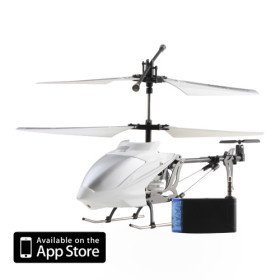 3 Channel I-Helicopter 777-173 with Gyro Controlled by iPhone/iPad/iPod iTouch (White)