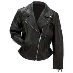 Ladies Genuine Leather Motorcycle Jacket 3XL